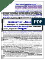 English 10 Jesus Announces the DESTRUCTION of JERUSALEM