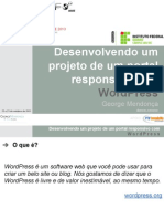 Desenvolvendo Um Projeto de Um Portal Responsivo Com WordPress