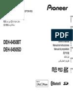 Operating Manual (Deh 6450bt Deh 5450sd) Eng Esp Por