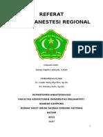 Referat Teknik Anestesi Regional