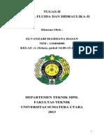 Tugas II Mekanika Fluida Dan Hidraulika-II Elvanzari Hasdiana H (110404080)