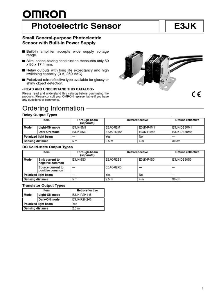 Omron Sensor E3jk 5dm1 Electric Wiring Diagram Photo Electrical 24v Relay Bipolar Junction Transistor