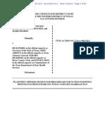 Preliminary Injunction Filed Nov 22 2013