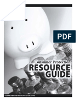 2008 CONSUMER PROTECTION RESOURCE GUIDE Prepared by the Michigan Legislature