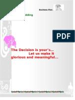 business plan document wedding planner