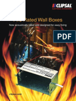 Clipsal Fire Rated Wall Boxes