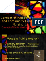 17162230 Concept of Public Health and Community Health Nursing