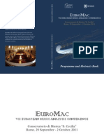 EuroMac, VII European Music Analysis Conference, Programme and Abstracts Book