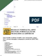 Regras e Normas da ABNT 2012 Acadêmicos _ Trabalhos ABNT