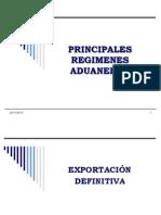 Principales Regimenes Aduaneros