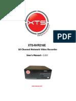 Xts Nvr216e Manual