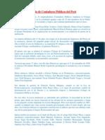 Creacion de Colegios de Contadores Publicos