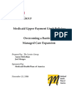 Medicaid Upper Payment Limit Policies