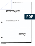 API Steel Pipelines Crossing Railroads and Highways RP_1102