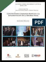 Memorias Tercer Foro Sobre Seguridad y Justicia 2011