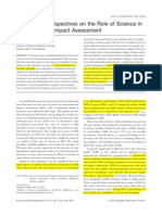 Morison-Saunders & Bailey 2003 - Science in Environmental Assessment Wednesday