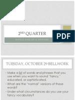 2nd quarter bellwork  notes