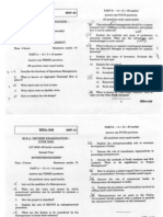 MBA Jun 2009 Question Papers