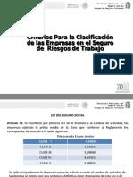 2. Criterios Para La Clasificacion de Empresas y Determinacion de La Prima de Riesgos
