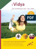 Yoga Vidya Seminare Juli-Dezember 2009 in Chronologischer Reihenfolge