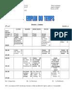Emploi du temps modèle A fr ( 4e AP)
