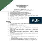 Tematica Admitere Scoala Doctorala Septembrie 2013