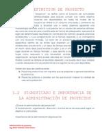 Definicion de Proyecto(Tema1,2,3)