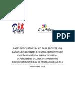 Bases Concurso Docentes DAEM 2014