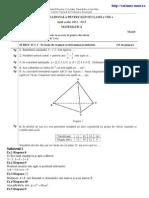 Rezolvare Model Subiecte Capacitate Mate 2013