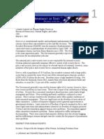 USDS HR Report Greece 2001