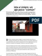 """Entrevista a Liniers; un personaje poco """"común"""" _ TN"""