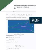 Ejercicios resueltos geometría analítica