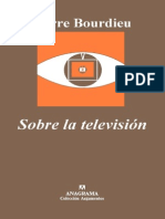 Bourdieu Sobre Tv