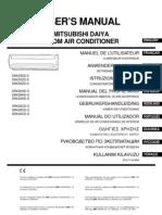 Mitsubishi Srk40hd-s Manual