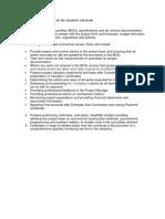 Principal Responsibilities of the Quantity Surveyor