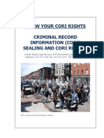 KNOW YOUR RIGHTS CRIMINAL RECORD SEALING AND CORI REFORM 2013