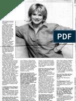 """Newsday """"Fast Chat"""" - Sharon Gless"""