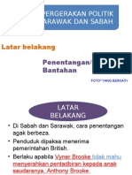 4.3 Pergerakan Politik Di Sabah Dan Sarawak