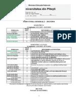 Structura Generala a Anului Universitar 2013 - 2014