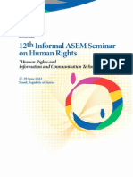 12th Informal ASEM Seminar on Human Rights Publication