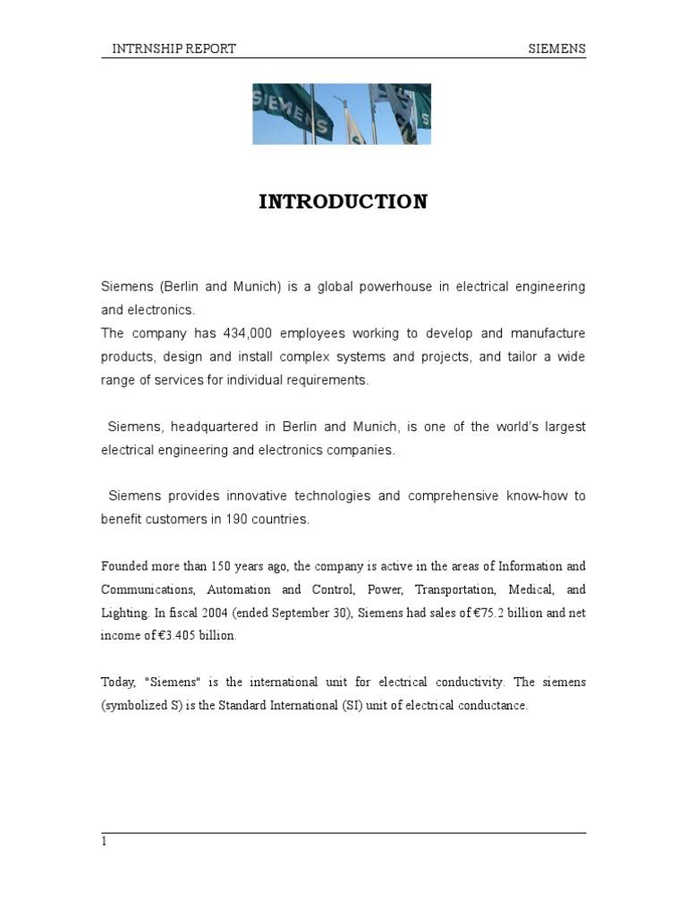 Siemens internship Report   Internal Control   Siemens