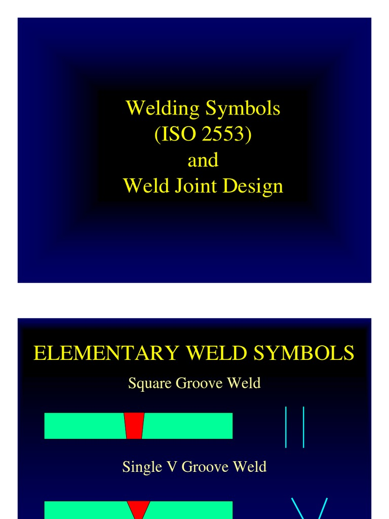 Weld Design Symbols Welding Electric Heating