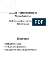 Social Performance in Micro Finance