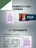 Testamento y Su Forma