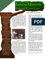 Love Newsletter 2009-07