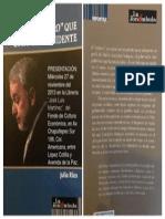 El Cristero que quiso ser Presidente, libro de Julio Ríos, Miércoles 27 de noviembre del 2013, a las 20 horas en la Librería del Fondo de Cultura Económica