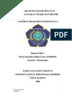 LAPORAN PRAKTIKUM BASIS DATA I