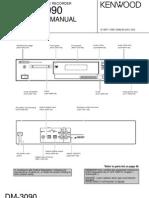 Kenwood DM-3090 Md Recorder Service Manal