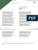 SONG of the PROFOUND LIFE - Porfirio Barba Jacob - Poetry International