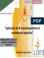 Aplicación de la cineantropometría al rendimiento deportivo